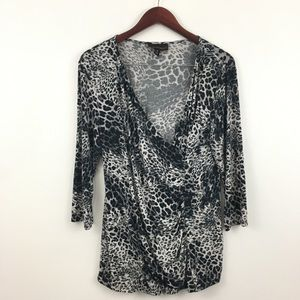 Dana Buchman Animal Print Blouse